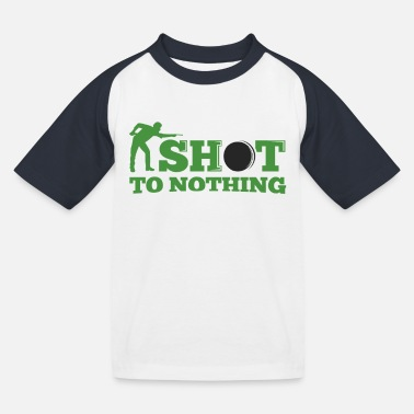 Snooker shot to nothing - Kids' Baseball T-Shirt