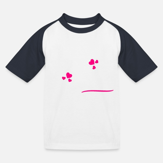 Day T-Shirts - Valentine's Day February love gift idea - Kids' Baseball T-Shirt white/navy