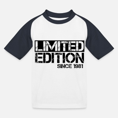 Year Of Birth Limited Edition 1981 Birthday birth year birth - Kids' Baseball T-Shirt