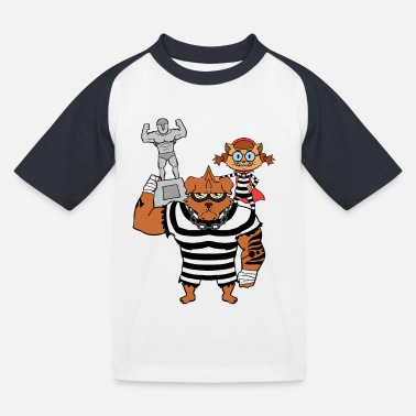 Burglar Burglars and thieves - with prey - Kids' Baseball T-Shirt