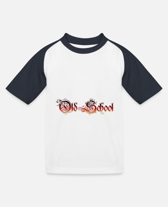Freestyle T-Shirts - Old School - Kinder Baseball T-Shirt Weiß/Navy