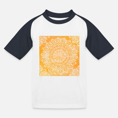 Christina Creation Mandala marble orange - Kids' Baseball T-Shirt