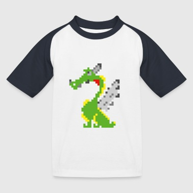 Pixel Drache, Game Design - Kinder Baseball T-Shirt
