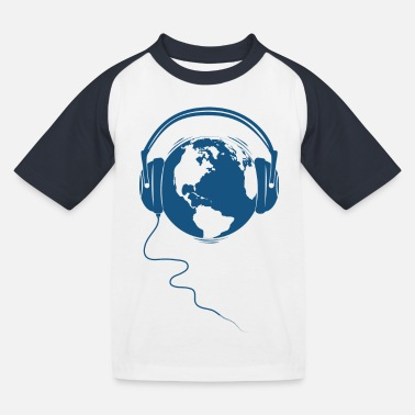 Audio Planeten Audio - Kinder Baseball T-Shirt