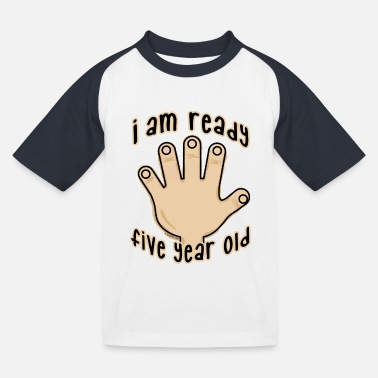 Production Year GP19B-FIVE YEAR BABY PRODUCTS - for 5 years! - Kids' Baseball T-Shirt