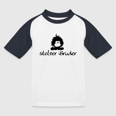 stolzer Bruder kleines Monster - Kinder Baseball T-Shirt