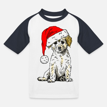Christmas Doggy - Kids' Baseball T-Shirt
