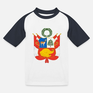 National Coat of Arms of Peru - Kids' Baseball T-Shirt