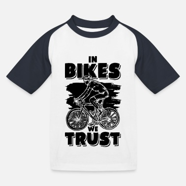 Funnier Cycling funnier saying - Kids' Baseball T-Shirt