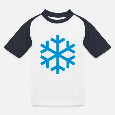 Icon Snowflake Weather Icon Icon - Baseball T-shirt til børn
