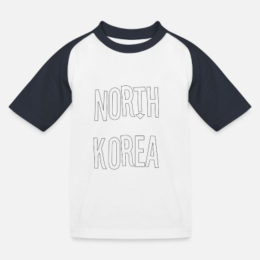 North Yorkshire North Korea - Kids' Baseball T-Shirt