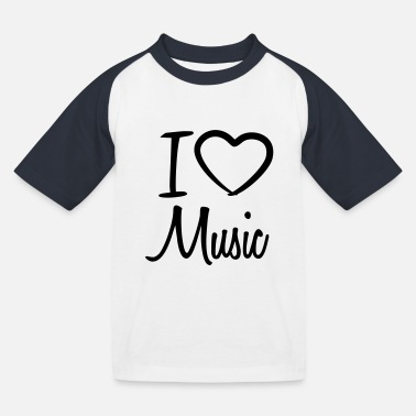 I Love Music I Love Music - T-shirt baseball Enfant