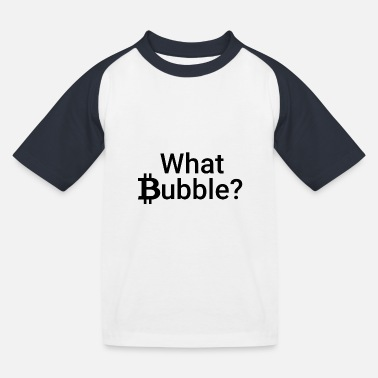 Bitcoin Bubble - Kids' Baseball T-Shirt