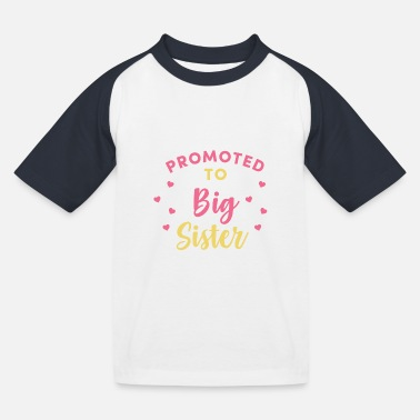 Promoted to Big Sister - Kinder Baseball T-Shirt
