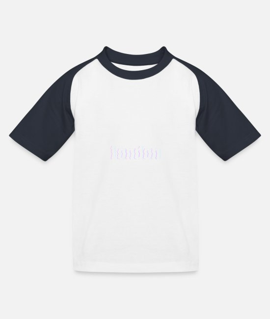 Lollipop T-Shirts - London - Kids' Baseball T-Shirt white/navy