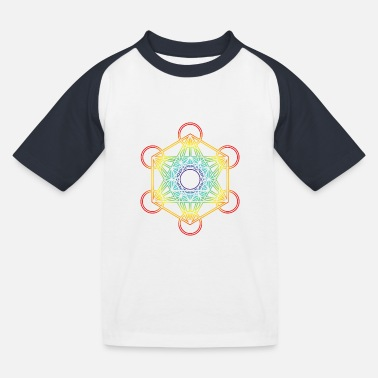 Metatron's Cube 20 - Kids' Baseball T-Shirt