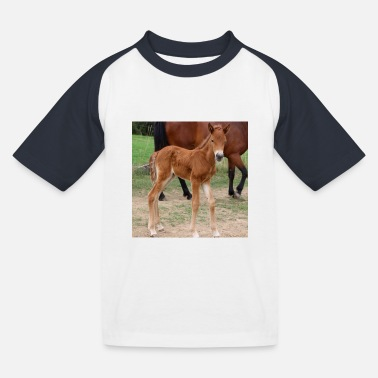 Horse foal riding equestrian horse poster gifts - Kids' Baseball T-Shirt