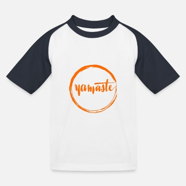 India Namaste - Kids' Baseball T-Shirt