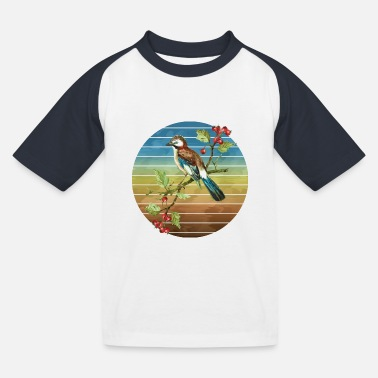Flügel Bunter Vogel - Kinder Baseball T-Shirt