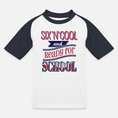 Coole Six, cool and ready for school 3C - Kinder Baseball T-Shirt