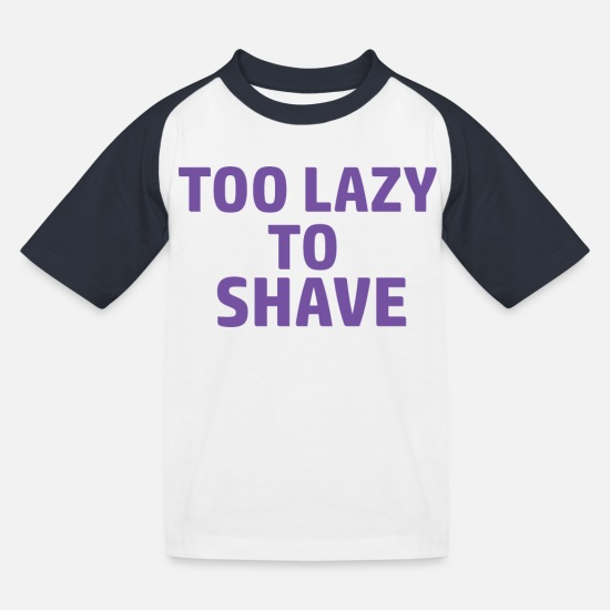 Till T-Shirts - lazy - Kids' Baseball T-Shirt white/navy