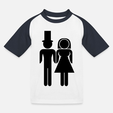Marriage Couple - Kids' Baseball T-Shirt