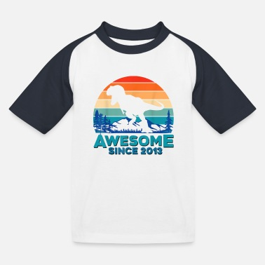 Awesome since 2013 - Kinderen baseball T-shirt