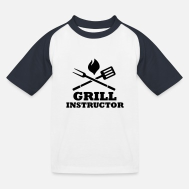 Grill Instructor Grill Instructor - Kids' Baseball T-Shirt
