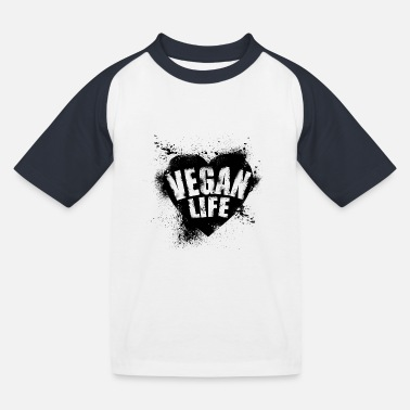 vegan life - Kinder Baseball T-Shirt