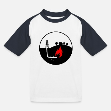 Oil production - Kids' Baseball T-Shirt