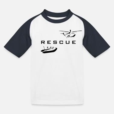 Rescue rescue - Kids' Baseball T-Shirt
