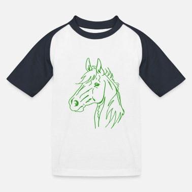 Pferd - Kinder Baseball T-Shirt