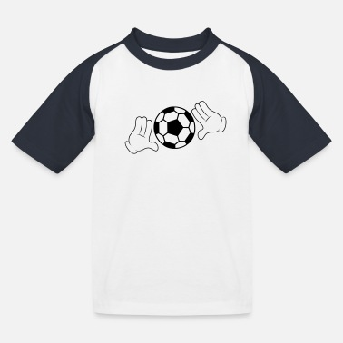 Comic Hand Comic Hands with Football - Kinderen baseball T-shirt