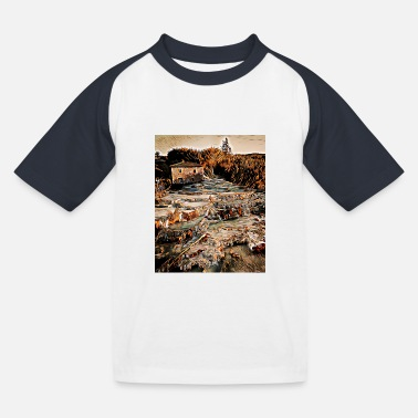 Thermalbad - Cascate del Mulino, Italien - Kinder Baseball T-Shirt