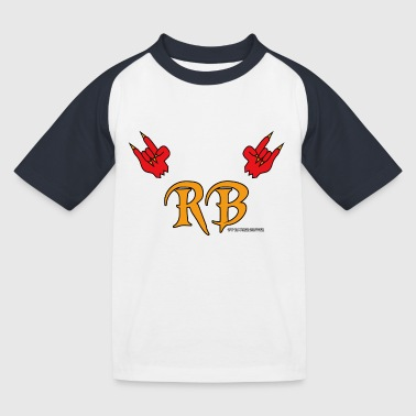 Devil Horns Meets RB - Kinder Baseball T-Shirt