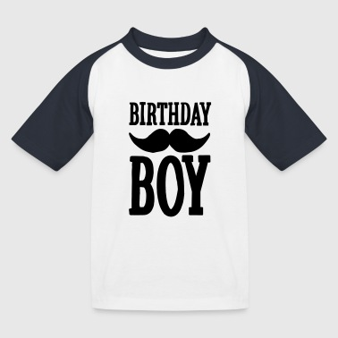 Birthday Boy Hipster - Kids' Baseball T-Shirt