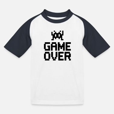 Geek game over with sprite - Kids' Baseball T-Shirt