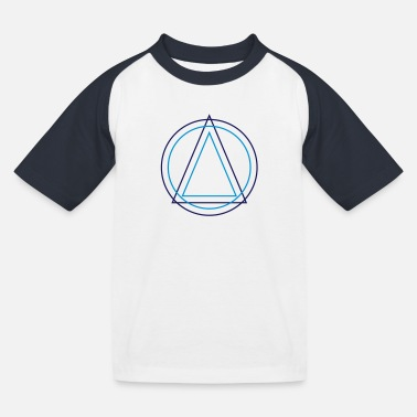 Triangle Geometry Geometry - Triangle Circle - Kids' Baseball T-Shirt