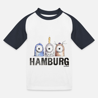 Hamburg - Kinder Baseball T-Shirt