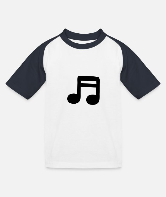 Guitar T-Shirts - 2 sixteenths - Kids' Baseball T-Shirt white/navy