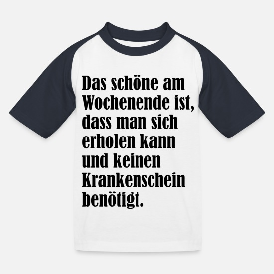 Lounge T-Shirts - Erholung - Kinder Baseball T-Shirt Weiß/Navy