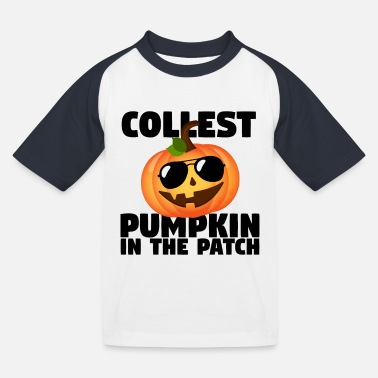 Pumpkin Coolest Pumpkin In The Patch Halloween Boys Gift - Kids' Baseball T-Shirt