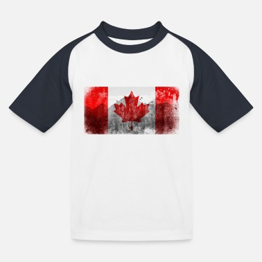 Canada flag Vintage Retro | Maple leaf - Kids' Baseball T-Shirt