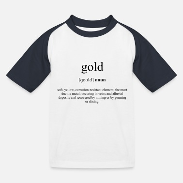 Gold Definition Dictionary - Baseball T-skjorte barn