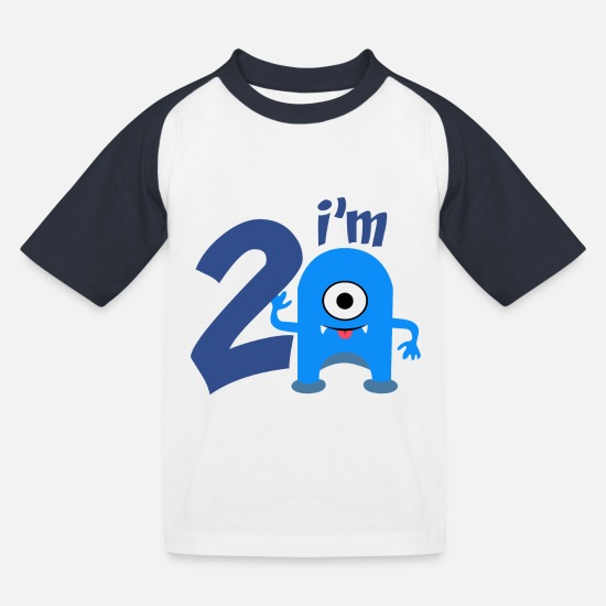 Birthday T-Shirts - birthday party - Kids' Baseball T-Shirt white/navy