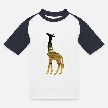 Steppe Giraffe in the steppe - Kids' Baseball T-Shirt