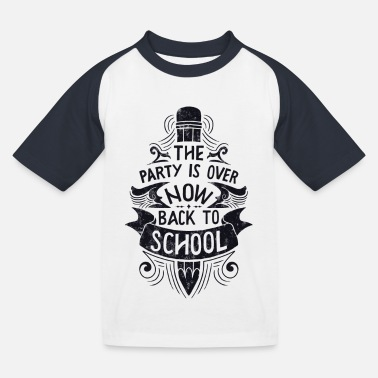 First Day Of School Back To School - Kids' Baseball T-Shirt