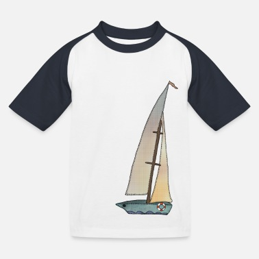 Segelboot Segelboot - Kinder Baseball T-Shirt