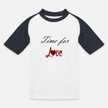 Time for Love black red - Kinder Baseball T-Shirt