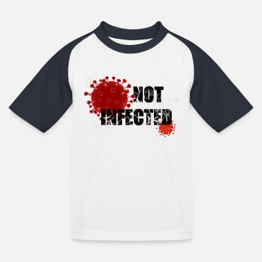 Infection NOT infected - Kids' Baseball T-Shirt